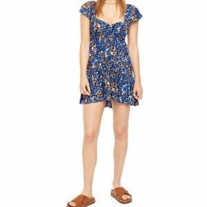 NWT Free People Pattern Play Mini Dress